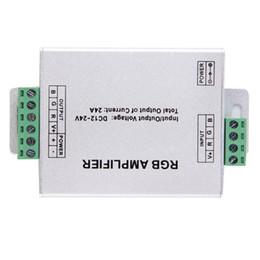 Canada DC12-24V 12A Répéteur Aluminium Case Controller RGB Contrôle de l'amplificateur de signal pour SMD 3528 5050 LED Strip Light Offre