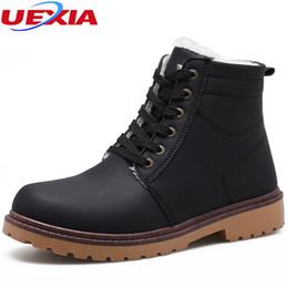 63d8c9470757 UEXIA Neue Winter Knöchel Schnee Stiefel für Männer Warm Mit PlushFur  Arbeitssicherheit Casual Männer Schuhe Mokassin Schuhe Mode Männlichen Gummi