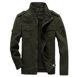 chaqueta de invierno verde para hombre Rebajas Marca Casual Hombre Chaquetas Army Spring NUEVO 2018 Mens Green Khaki 3 Colores Chaqueta Winter Cargo Plus tamaño M-XXXL 5XL 6XL