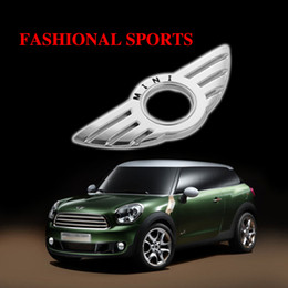 Wholesale mini cooper door - 1 Pcs Car Door Pin Lock Wing Emblem Badge Auto Stickers Decorative For BMW MINI Cooper  S ONE Roadster Clubman Coupe Car-Styling