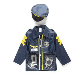 Wholesale Police Costume Cosplay - 2018 Free Shipping Kid Child Halloween Police Officer Patrol Cop Cosplay Kid Girl Boy Fancy party Cosplay Costumes