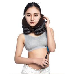 Wholesale Massage Pillow Neck Massager - Inflatable Pillow Neck Back Shoulder Pain Relief Massager Cervical Traction Neck Cervical Traction Device Neck Care Massage