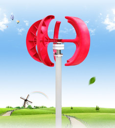 Wholesale generators home use - 300w home use wind generator small Vertical 3 phase ac 12v 24v free shipping start up wind speed 2m s LLFA