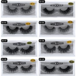 Hot Sale 1 Pair Black 100% Real Mink Hair Thick Long Natural Cross Fake False Eyelashes Makeup Cosmetic Tools 50% OFF Beauty Essentials Beauty & Health