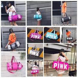Wholesale Wholesale Pink Tools - Pink Letter Handbags VS Shoulder Bags Pink Purse Totes Travel Duffle Bags Waterproof Beach Bag Shoulder Bag Shopping Bags Tool Bag