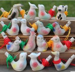 Canada Oiseau Forme Sifflet Enfants Céramique Eau Ocarina Arts Et Artisanat Kid Cadeau Pour De nombreux Styles Offre