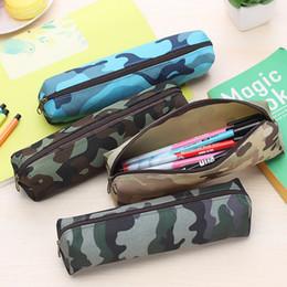 Симпатичные камуфляж ткань молния пенал Kawaii карандаш сумка для детей подарок Корейский канцелярские от
