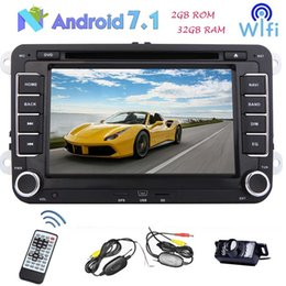 Argentina Doble Din 7 '' Android 7.1 DVD estéreo del automóvil Bluetooth Navegación GPS para Volkswagen VW Golf / Jetta / Passat / Polo / Touran / Tiguan / Skoda Headunit Suministro