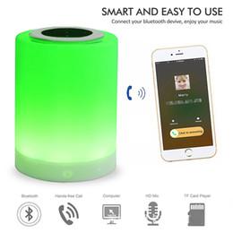Canada Veilleuse Bluetooth Haut-parleurs Musique Portable Sans Fil Haut-Parleur Smart Touch Control Couleur LED Lampe de Table de Chevet Haut-Parleur TF Carte Offre
