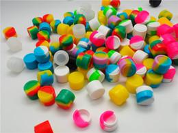 bola de contenedor de aceite de silicona Rebajas 5 ml Caja de almacenamiento de silicona Antiadherente Contenedor de bolas Soporte de aceite de estado sólido redondo Multicolor Caja de aceite de maquillaje portátil