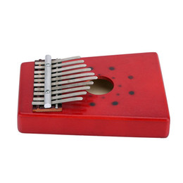 Instrumentos de dedo online-Kalimba 10Keys africano Mbira Thumb Finger Piano Percussion Keyboard Instrumento musical tradicional Niños Marimba Wood okeme sansu