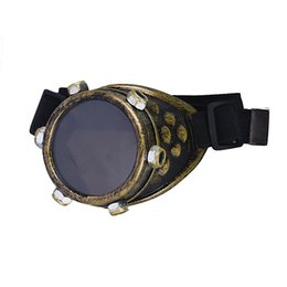Wholesale diy steampunk - Wholesale- Durable Unisex Women Steampunk Windproof DIY Lens Right Eye Punk Glasses Props