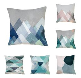 Wholesale Simple Linen Cushion Cover - Cotton Linen Leaning Cushion Throw Pillow Covers Pillowslip Case Good Design 45*45 cm Simple abstract geometric