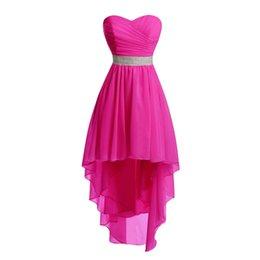Vestido de dama de honor de Eren Jossie Brand Sweetheart Vestido alto-bajo Vestido de venta al por mayor Corto 2018 Vestido de señoras vendedoras calientes desde fabricantes