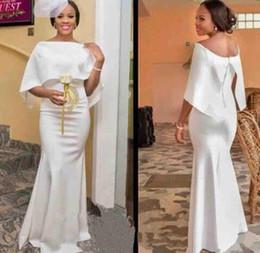 8b8978be3cf Africa white Long Elegant Mermaid Bridesmaid Dresses Bateau Neck Maid of  Honor Dress Custom Made Formal Evening Gowns backless Prom Dress