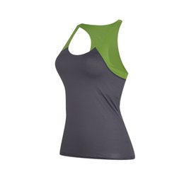 Wholesale Ladies Green Vest Tops Wholesale - Size M Women's Yoga Shirts Ladies Workout Sports Vest Gym Fitness Running Tanks Quick Drying Tees Sleeveless Exercise Tops