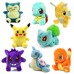 Wholesale Flareon Plush - 1pc Stock 22CM 9inch Plush Toy Pikachu Dolls Jolteon Umbreon Flareon Eevee Espeon Vaporeon Bulbasaur Squirtle Dolls opp bags 200pcs