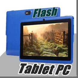 """Wholesale tablet android q8 - Allwinner A33 Quad Core Q88 Q8 Tablet PC Dual Camera 7"""" 7Inch capacitive screen Android 4.4 512MB 8GB Wifi OTG Google play store flash E-7PB"""