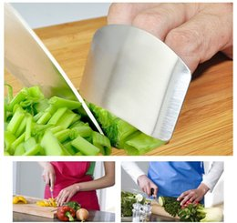 Wholesale metal guard - Stainless Steel Finger Guard Protect Hand Protector Not To Hurt Vegetable Cutting Durable Kitchen Home Tools AAA577 50pcs