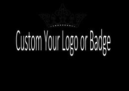 I badges personalizzati online-Bling Bling bling Zircon Design Logo personalizzato e distintivo Collana a catena con pendenti con lettera Zirconi cubici