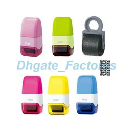 Wholesale free ink stamps - Creative Confidentiality Roller Stamps Messy Code Security Self-Inking Stamp Portable Mini Covering Stamps Free Shipping JF-793