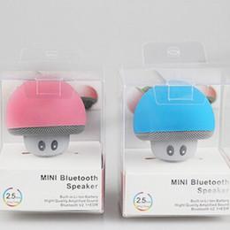 bons haut-parleurs bluetooth Promotion Champignon Bluetooth Haut-parleurs de voiture avec Sucker Mini Portable Subwoofer mains libres sans fil 2018 Bon