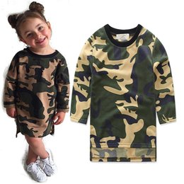 Wholesale Kid Girls Camouflage Shorts - Designer Camouflage Baby Clothes Kids Clothing Girls Summer Jumpsuit Boys Girls Infant Pajamas Set Boy Clothes Styles Knee Length Dresses