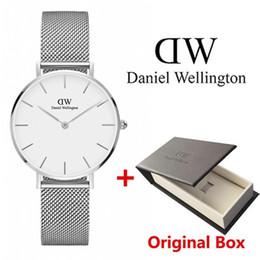 Новая мода девушки стальной полосы Даниэль Веллингтон часы 32 мм женские часы Даниэль Веллингтон кварцевые часы DW часы Наручные часы Relogio от Поставщики квадратные часы