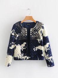 2019 damen casual designs mäntel Herbst Winter Frauen Kleidung Mantel Blume Design Rundkragen Langarm Mantel Dame Casual Outwear Mantel günstig damen casual designs mäntel