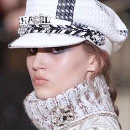 2018 marca de lujo otoño invierno ins moda mujeres tapas moda marina sombreros desde fabricantes