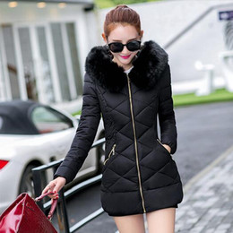 Wholesale Thick Warm Cheap Winter Coat - TX1170 Cheap wholesale 2017new Autumn Winter Hot selling women's fashion casual warm jacket female bisic fur collar hooded coats