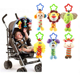 Wholesale musical baby doll - Cute Baby Toys Soft Musical Newborn Kids Toys Animal Baby Mobile Stroller Toys Plush Playing Doll Brinquedos Bebes