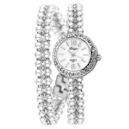 lady korea watch 2018 - Duoya Brand Korea Luxury Brand Pearls Bracelet Watch Women Female Ladies Dress Fashion Quartz Wristwatch, D033