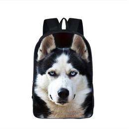 Wholesale boxer children - Dog Boxer Husky Backpack For Teenager Children School Bags Staffordshire Bull Terrier German Shepherd Backpack Animal Kids Bag