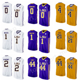 184730af9cc5 LSU Tigers College Jerseys Basketball 3 Tremont Waters 4 Skylar Mays 0  Brandon Sampson 5 Daryl Edwards Jersey 1 Duop Reath 21 Aaron Epps