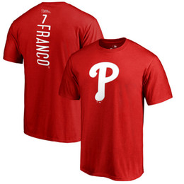 Wholesale Usa Mike - 2018 USA baseball T-shirt Philadelphia Phillie Jake Arrieta Mike Piazza Rhys Hoskins Aaron Nola CUSTOM any name and number tee