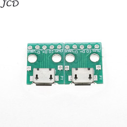 2019 connecteurs plongeurs JCD 50pcs / lot Mini Micro USB Adaptateur DIP 5pin Femelle Connecteur Module Panneau Femelle Avec Carte PCB promotion connecteurs plongeurs