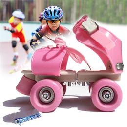 2019 rad inline Neue Einstellbare Größe Kinder Rollschuhe Doppelreihe 4 Räder Skating Schuhe Slalom Inline Skates Kinder Geschenke günstig rad inline