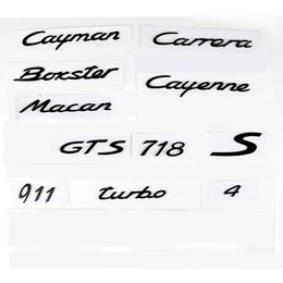 Wholesale Cayenne Black - For Porsche Boxster Cayman Cayenne Macan 911 Carrera Turbo GTS S 4 718 Number Letter ABS plastics Rear Tail Trunk Emblem sticker Decal
