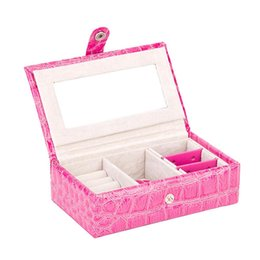 Wholesale Married Rings - Top Quality PU Leather Jewelry Box Watch Earrings Rings Bracelet Necklace Display Storage Box 3Layer Married Birthday Gift Boxes