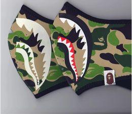 Wholesale Hot Ape - hot sell Tide brand AAPE luminous shark mask yeezus hip hop kanye ape night running death flying fly anti-haze ski mask