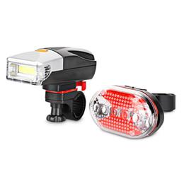 Bike COB Headlight Front Light 5 LEDs Tail Lamp LED Bicycle Lights Front Bike Handlebar MTB Biking Cycling Light Set Headlight Lamp