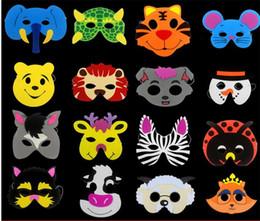 Wholesale Face Material - Lovely Cartoon Animal Mask EVA Foam Material Quality Vizard Masks Kindergarten Show Facepiece Christmas Party Supplies Prop 0 72cl Y