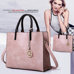 bolsos de oficina para mujeres Rebajas Las nuevas mujeres del diseñador 3PCS fijaron los bolsos de las señoras de la manera fija la bolsa de asas de la oficina del hombro de cuero Las mujeres baratas venden la bolsa de mano EM-856