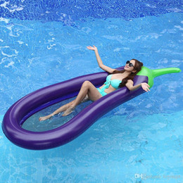 Wholesale Inflatable Kids Swimming Pool - Inflatable Eggplant Float 250*100CM ECO-Friendly PVC Inflatable Lounge Chair Summer Outdoor Swmming Pool Raft Fun Adult Kid Swim Party Toys