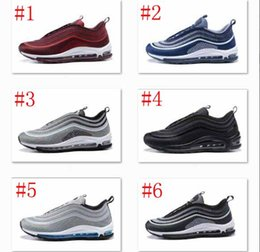 Wholesale Solid Rose Gold - ria 97 Ultra 17 Running Shoes Lightweight 97 OG Metallic Silver Black Pure White Rose Gold Training Sneakers Eur 40-45