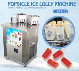 Wholesale Lollipops Molds - free shipping Kolice food snack equipment 2 molds ice popsicle machine ice lollipop machine ice lolly making machine with 2molds,refrigerant