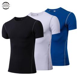 T-shirt manica corta da uomo Quick Dry Compression Maglietta da allenamento Fitness Tight Tennis Jersey Gym Gym Demix Sportswear da maglia di lana d'epoca fornitori