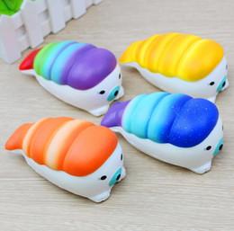 Wholesale Cartoon Strap - Cute Creative Stretch Sea Lion Sushi Squishy Squeeze Soft Wreak Toys Slow Rising Phone Straps Cartoon Press Squishy EEA51