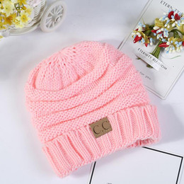 bec2abc4155 HOT 2019 Fashion Baby Hats CC Trendy Beanie Crochet Beanies Outdoor Hat  Winter Newborn Beanie Children Wool Knitted Caps Warm Beanie BH55